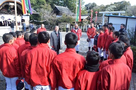 新年、野崎会長の挨拶